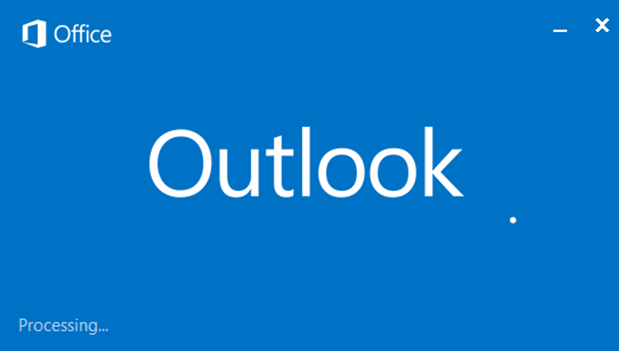 outlook hangs stuck on processing