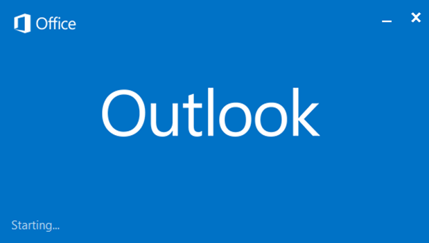 outlook hangs stuck on starting